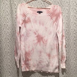American Eagle outfitters pink tie dye sweater